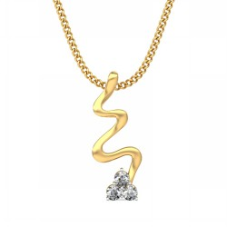Diamond Pendant Necklace 0.075 Ct Natural Diamond Solid Gold Occasion