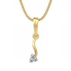 Gold Diamond Pendant 0.045 Ct Natural Diamond Solid Gold Wedding