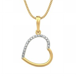 Diamond Pendant Necklace 0.085 Ct Natural Diamond Solid Gold Weekend