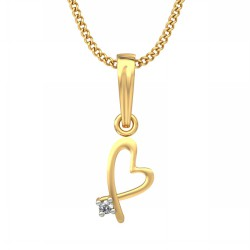 White Gold Pendant 0.005 Ct Natural Diamond Solid Gold Party