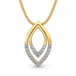 Diamond Pendant Necklace 0.115 Ct Natural Diamond Solid Gold Wedding
