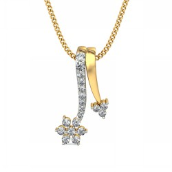 White Gold Diamond Pendant 0.201 Ct Natural Diamond Solid Gold Weekend
