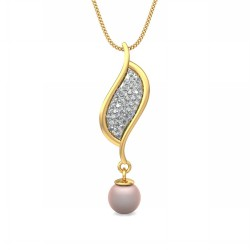 Gold Diamond Pendant 0.385 Ct Natural Diamond Solid Gold Party