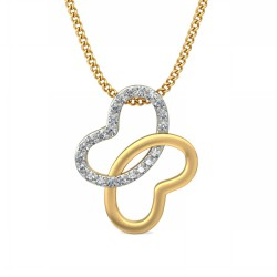 Diamond Pendant 0.115 Ct Natural Diamond Solid Gold Workwear