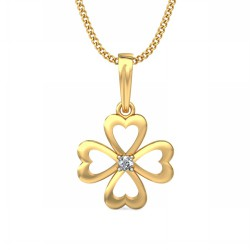 Diamond Pendant Necklace 0.025 Ct Natural Diamond Solid Gold Vacation