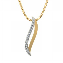White Gold Pendant 0.075 Ct Natural Diamond Solid Gold Everyday