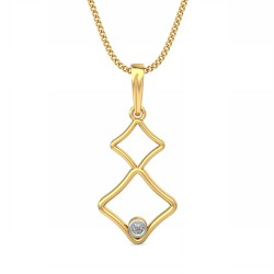 White Gold Diamond Pendant 0.025 Ct Natural Diamond Solid Gold Office Wear