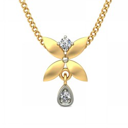 Diamond Pendant 0.03 Ct Natural Diamond Solid Gold Occasion