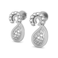 Heart Shaped Diamond Earrings 0.29 ct Natural Certified Solid Gold Studs