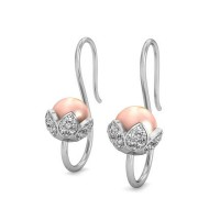 Heart Earrings 0.51 ct Diamond Natural Certified Solid Gold Studs