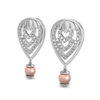 Heart Earrings 0.42 ct Diamond Natural Certified Solid Gold Perfect Gift