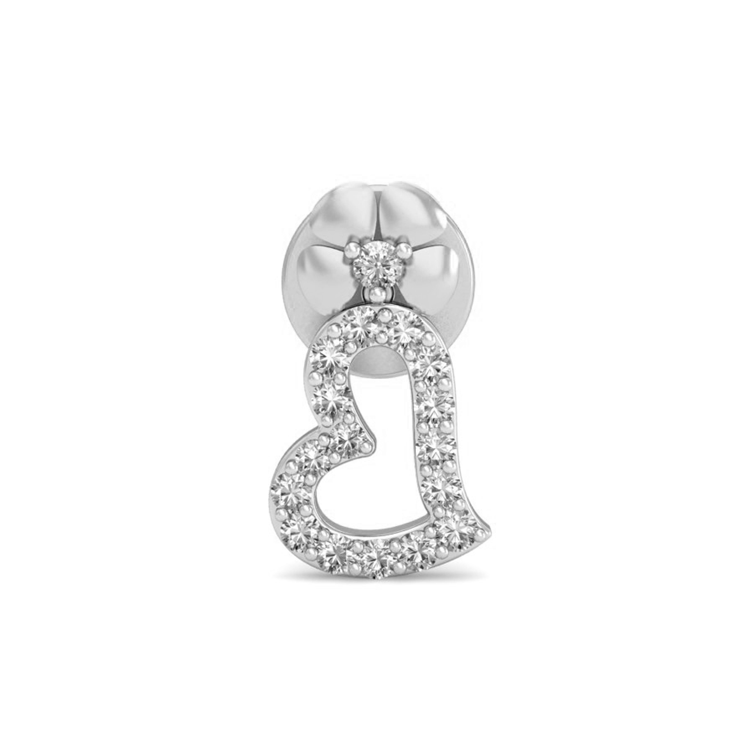 fd473102cc4 ... Heart Shaped Diamond Earrings 0.23 ct Natural Certified Solid Gold  Valentine Gift ...