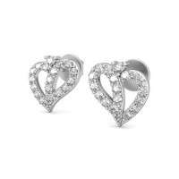 Diamond Heart Earrings 0.25 ct Natural Certified Solid Gold Perfect Gift For Her