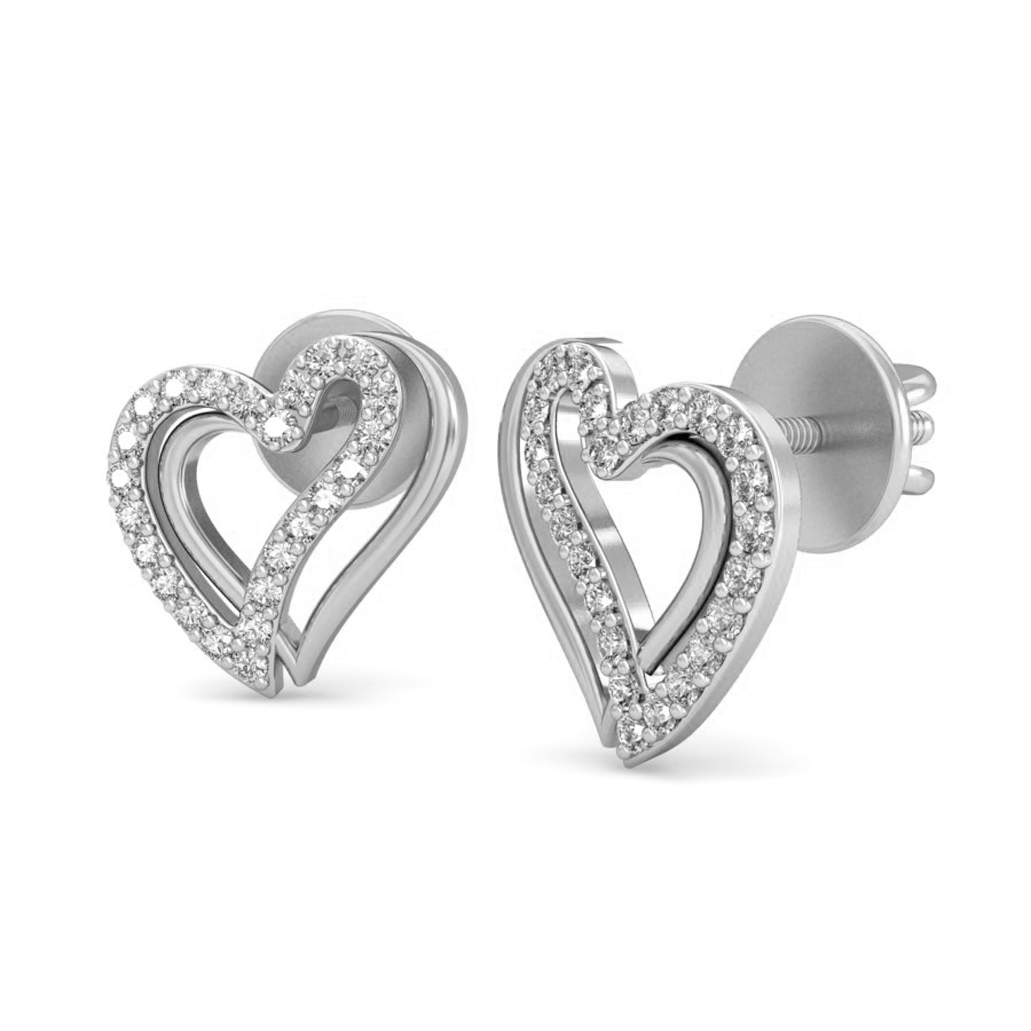 property heart diamond earrings accents with of room pair silver l shaped sterling
