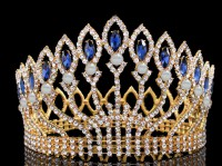 Princess Tiaras And Crowns Natural Certified Diamond 50 Ct Solid Gold Diamond Crown