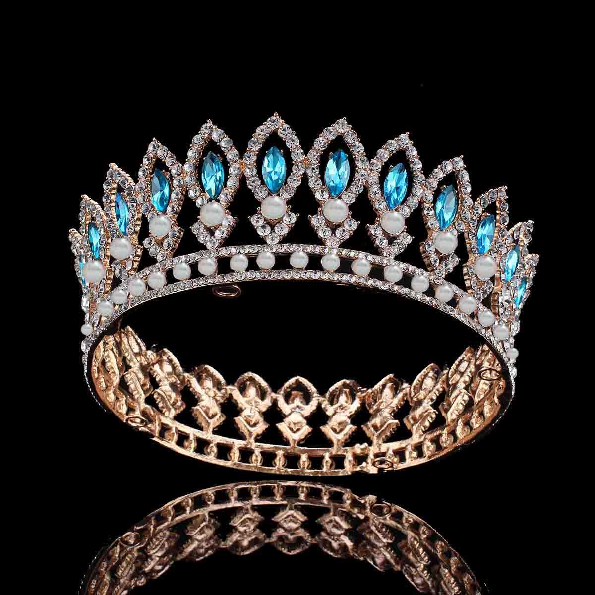 Wedding Headband Diamond 40 Ct Solid Gold Bridal Headpieces