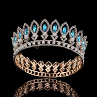 wedding headbands Natural Certified Diamond 50 Ct Solid Gold Crown Tiara