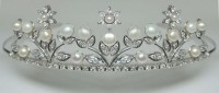 Brithday Tiara Natural Certified Diamond 5 Ct Solid Gold Bridal Hair Accessories