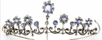 Tiaras And Crowns Natural Certified Diamond Blue Sapphire 2.5 Ct Sterling Silver Mugal Inspried