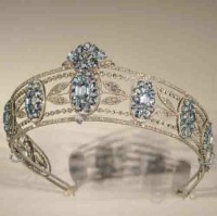 Certified Diamond Tiara Natural Certified Diamond Blue Topaz 10.5 Ct Sterling Silver Bridal Hair Accessories
