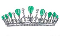 Head Pieces Natural Certified Diamond Emerald 10.26 Ct Sterling Silver Head Pieces