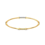 Eternity Diamond Bangle Pair 2.00 Ct 14k white Solid Gold Work wear