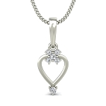 Heart Pendants Love 0.1 ct Diamond Solid Gold Natural Certified