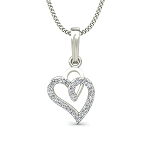 Heart Diamond Pendants  0.13 ct Diamond Love Pendant Solid Gold Natural Certified