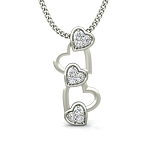 Diamond Heart Pendant 0.06 ct Diamond Solid Gold Natural Certified