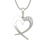 Heart Necklaces Love 0.1 ct Solid Gold Natural Certified
