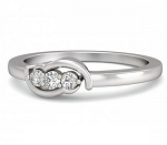 Diamond Wedding Rings 0.10 Ct  Round Shape Sterling Silver Ring
