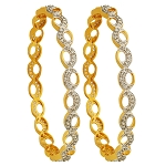 Diamond Eternity Bangle Pair 7.00 Ct Natural Diamond Yellow Gold Natural Certified