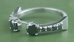 Black Diamond Engagement Rings 0.88 Ct Black Diamond Round Shape Sterling Silver Solitaire