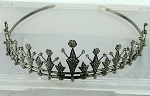 wedding headbands 12.00 Carat Natural Rose Cut Certified Diamond Sterling Silver Mugal Inspried