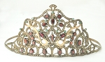 Bridal Hair Accessories 39.39 ct Diamond Gold Gemstone Sterling Silver Bridal Tiaras