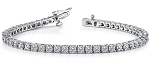 Tennis Bracelet 5.00 Ct Natural Untreated Diamond Solid Gold Natural Certified