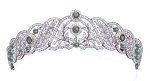 Wedding Tiaras Natural Certified Diamond Emerald 15.00 Ct Solid Gold Bridal Hair Accessories