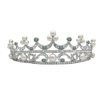 Gold Tiaras Natural Certified Diamond Gemstone 5.50 Ct 14k Solid Gold Hair Accessories