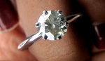 Solitaire Diamond Ring 1.36 Ct. Round Shape Solid Gold Natural Certified