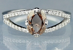 Brown Diamond Rings 1.06 Ct. Center 0.90 Ct Fancy Color Gold Natural Certified
