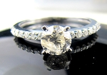 Solitaire Diamond Ring 1.23 Ct Center 0.90 Ct Solid Gold Natural Certified