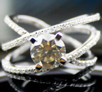 Color Diamonds 2.49Ct Center 1.92Ct Round Cut Solid Gold Wedding Natural Certified