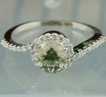 Fancy Diamond Rings 1.27Ct Center 1.02Ct Solid Gold Solitaire Natural Certified