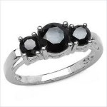 Enhanced Black Diamond 2.45 Carat Black Solitiare Diamond Engagement Rings  Solid Gold