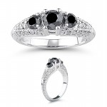 Black diamond Ring 2.16 Carat Diamond Solitaire Engagement Anniversary Solid Gold