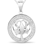 Zodiac Jewelry Scorpio 1.00 Ct Diamond Solid Gold Astrology jewelry Natural Certified