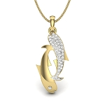 Zodiac Necklace Pisces 0.30 Ct Diamond Solid Gold Horoscope Necklace Natural Certified