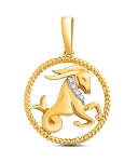 Zodiac Jewelry Capricorn 0.05 Ct Diamond Solid Gold Astrology jewelry Natural Certified