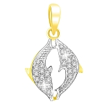 Horoscope Necklace Pisces 0.60 Ct Diamond Solid Gold Astrology jewelry Natural Certified
