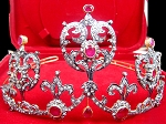 Bridal Tiarass 12.30 Ct Certified Diamond Ruby Sterling Silver Bridal Hair Accessories